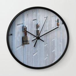 Locked doors Wall Clock