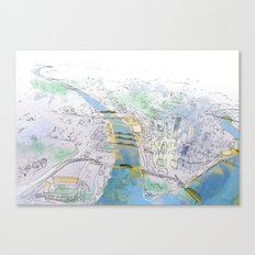 Pittsburgh Aerial Canvas Print