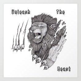 The Lion's Rage Art Print