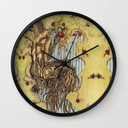 Her Rooted Soul Wall Clock