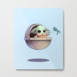 cute alien baby Metal Print