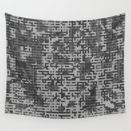 Pixelized Abstract Pattern / GRAY Wall Tapestry