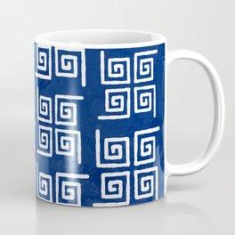 Deep Blue Bohemian Patterns Coffee Mug