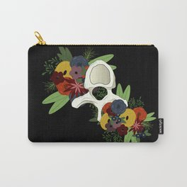 Vertebrae Florals Carry-All Pouch