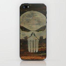 Apocalyptic Punisher painting iPhone Skin