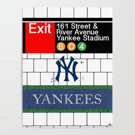 NYC Yankees Subway Poster