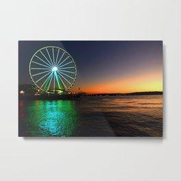 Seattle Great Wheel - Seattle, WA Metal Print