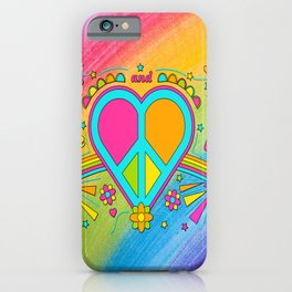 Peace and Love Fifty Years since Woodstock iPhone Case