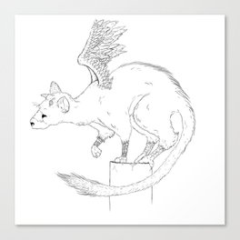 Curious Trico Canvas Print