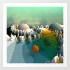 fractal landscape -3- Art Print