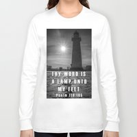 bible Long Sleeve T-shirts featuring Bible verse - Donaghadee Lighthouse by cmphotography