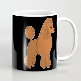 Apricot Poodle on Black Coffee Mug