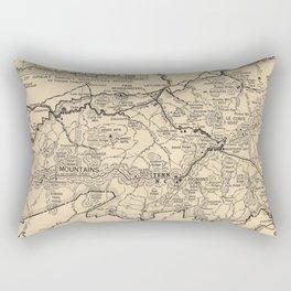 Vintage Great Smoky Mountains National Park Map (1941) Rectangular Pillow