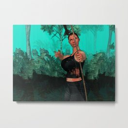 Survivor about to shot someone Metal Print