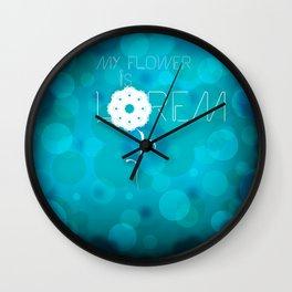 My flower is Lorem Wall Clock