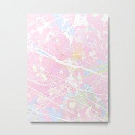 Pastel Candy Pollock marble Metal Print