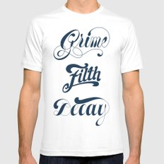 Grimey Type. White Mens Fitted Tee MEDIUM