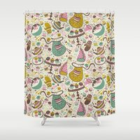 cupcakes Shower Curtains featuring Cupcakes  by Anna Deegan