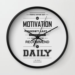 Lab No. 4 People Often Say Zig Ziglar Motivational Quote Wall Decor Wall Clock