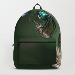 Dragonfly Blue Dasher looking at you Backpack