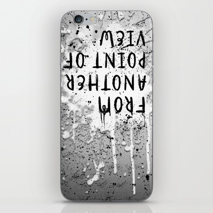 TEXT ART From another point of view   paint & splashes   grey iPhone Skin