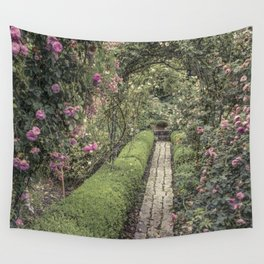 Rose Garden -Lyon France Wall Tapestry