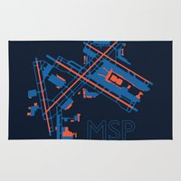 60s Area & Throw Rugs featuring Minneapolis-St.Paul (MSP) - 60s by Kyle Rodgers