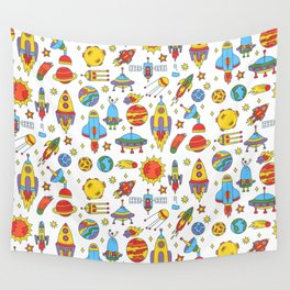 Outer space cosmos pattern Wall Tapestry
