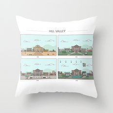 Back to the future - Hill Valley x 4 Throw Pillow