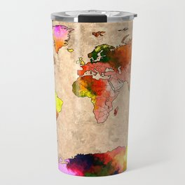 World Grunge Travel Mug