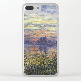 Claude Monet, French, 1840-1926 Marine View with a Sunset Clear iPhone Case