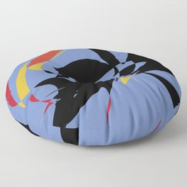 Abstract in blue black Floor Pillow