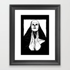 nun of death Framed Art Print