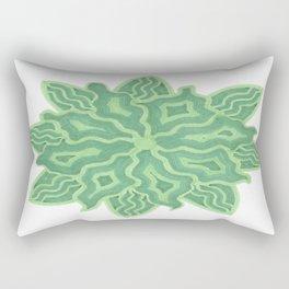 Emerald Flower Rectangular Pillow