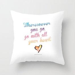 Confucius Say Throw Pillow