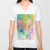 horses V-neck T-shirts featuring Horses  by Latidra Washington