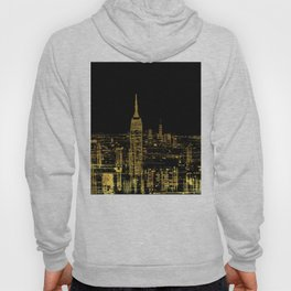 Abstract Gold City  Skyline Design Hoody