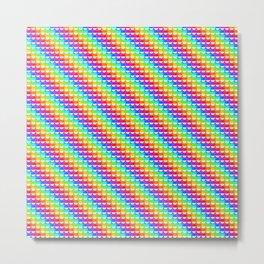 Rainbow Pokeballs Metal Print