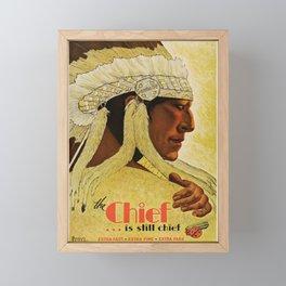 retro Chief Framed Mini Art Print