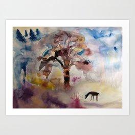 forest tale Art Print