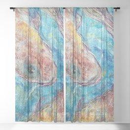 Nuno Felt Koi Sheer Curtain