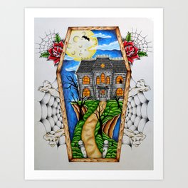 Haunted House on the Hill Art Print