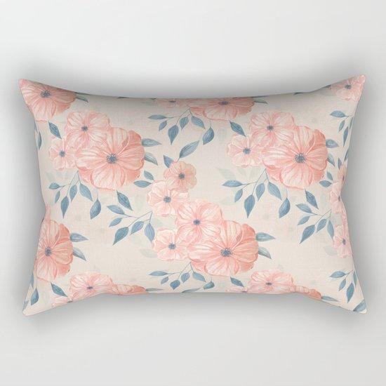 Seamless watercolor floral pattern Rectangular Pillow