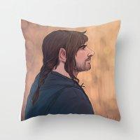 kili Throw Pillows featuring kili by Ronnie