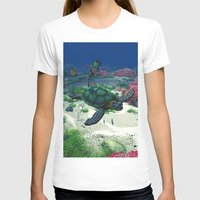 sea turtle T-shirts featuring Sea Turtle by Simone Gatterwe