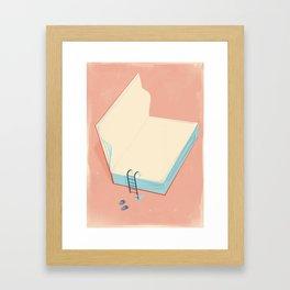 Invite to reading Framed Art Print