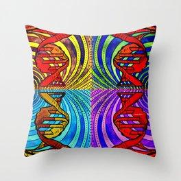 DNA #3 Throw Pillow