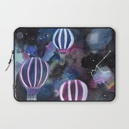 Hot Air Balloon in Galaxy Sky Laptop Sleeve