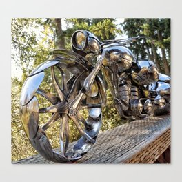The Wasp- Spoon Motorcycle by James Rice Canvas Print