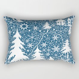 New year's design. Lace fabric . Rectangular Pillow